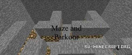 Скачать  Maze and parkour map для Minecraft