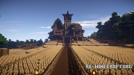 Скачать medieval town by niki2011 для minecraft
