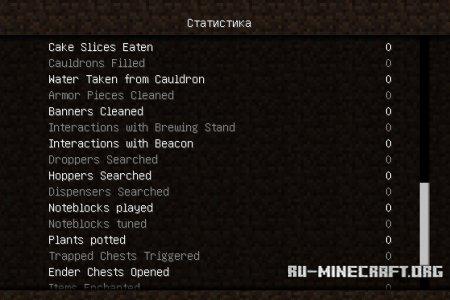 Статистика Minecraft 1.8.3