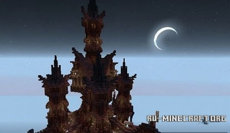 Скачать  The Spires of Frosrithe - A Steampunk Build для Minecraft