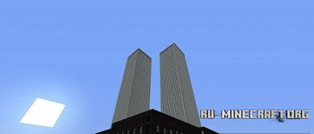�������  Twin Towers of The World Trade Center ��� Minecraft