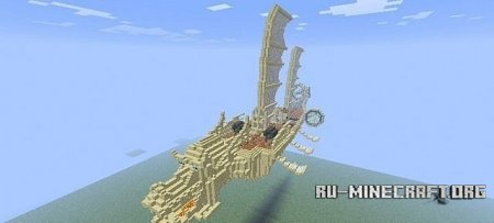 Скачать Imperial Dragon Ship для Minecraft