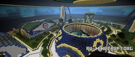 ������� Accretion (630x630x172 blocks space station) ��� Minecraft