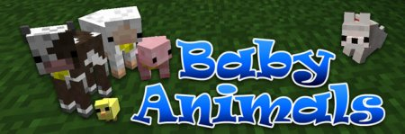 Скачать Baby Animals Model Swapper, Squickens для Minecraft 1.7.10