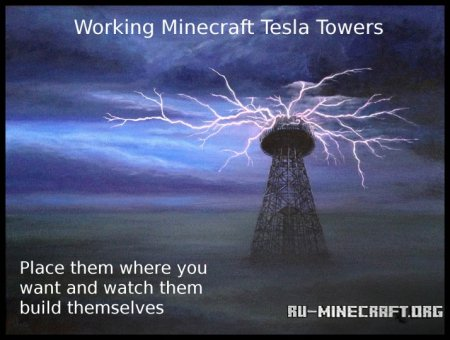 Скачать Working Tesla Towers для Minecraft