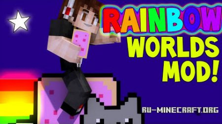 Скачать The Rainbow World для Minecraft 1.7.10