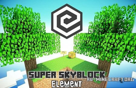 Скачать  Super Element SkyBlock для Minecraft