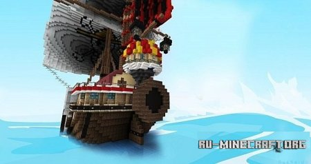 �������  ONE PEICE The Thousand Sunny ��� Minecraft