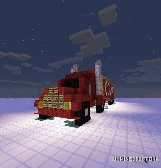механический грузовик в майнкрафте #2