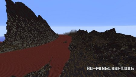 Скачать Volcano Dead Lands With Dead Trees для Minecraft