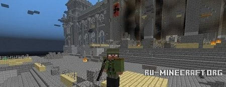 �������  Fall Of The Reichstag 1945 ��� Minecraft