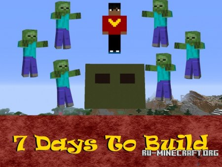 Скачать 7 Days To Build / One Command для Minecraft