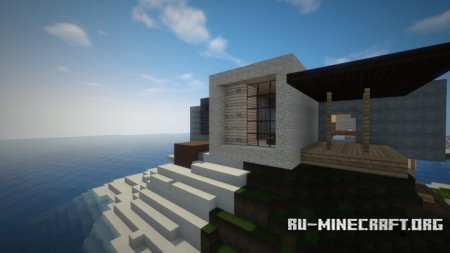 Скачать LUX | contemporary villa by benkavin для Minecraft