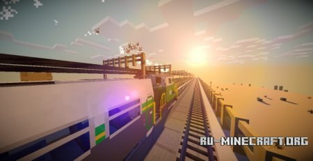 Скачать Trains Map 3 Light rail Project для Minecraft