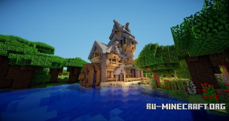 ������� River House Timelapse ��� Minecraft