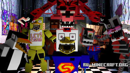 ������� Five Nights at Freddy�s Realistic Models ��� Minecraft 1.7.10