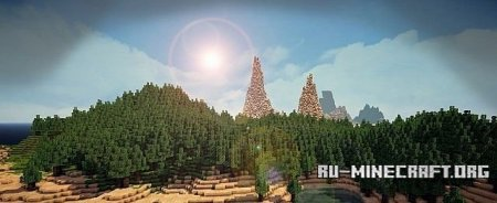 Скачать World of Arianna - 10 000 x 10 000 block Custom World для Minecraft