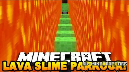 Скачать Lava and Slime Parkour для Minecraft