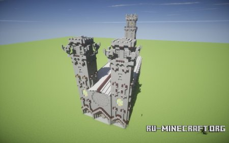 ������� Big Medieval-Gothic Cathedral ��� Minecraft
