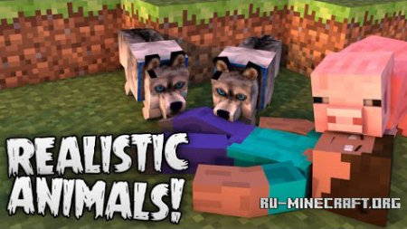 ������� Hungry (Realistic) Animals ��� Minecraft 1.8