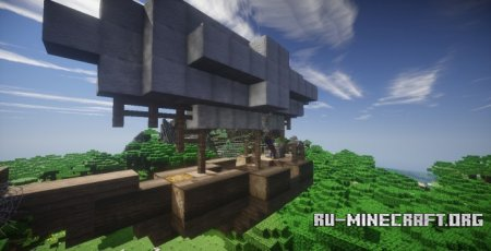 ������� Small Rustic House with Airship ��� Minecraft