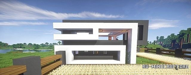 скачать Lakedrive Crescent Modern Survival House для Minecraft