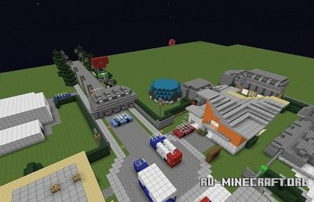 Скачать Call Of Duty Block Ops 2 NukeTown  для Minecraft
