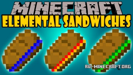 Скачать Elemental Sandwiches для Minecraft PE 0.12.1