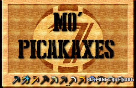 Скачать Mo'Pickaxe's для Minecraft PE 0.12.1