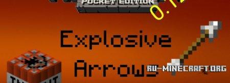 Скачать Explosive Arrows для Minecraft PE 0.12.1