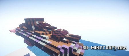 Скачать Glaciem Honey Badger class cruiser for movecraft  для Minecraft