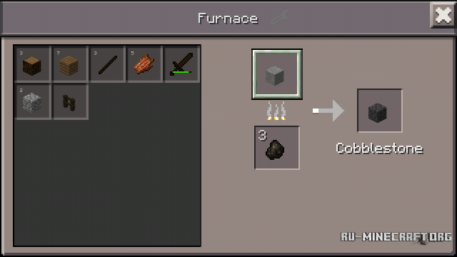 how to get a furnace in minecraft pe