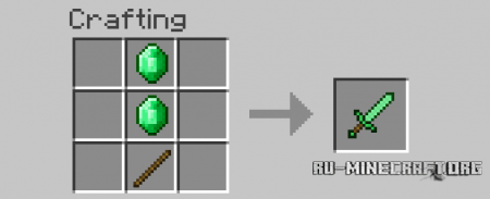 Скачать Emerald and Obsidian Tools для Minecraft 1.7.10