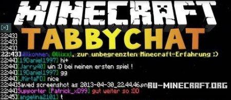 Скачать TabbyChat для Minecraft 1.7.2