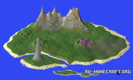 ������� Mountainous Islands with Volcano ��� Minecraft