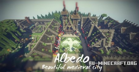 Скачать Albedo - Beautiful Medieval City для Minecraft
