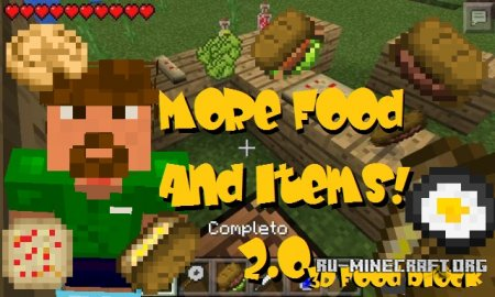 ������� More Food and Items ��� Minecraft PE 0.13.1