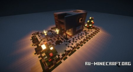 Скачать Merry CHristmas! [Modern House] для Minecraft