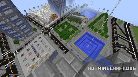 Скачать New N.Y.C. World Trade Center Replica для Minecraft