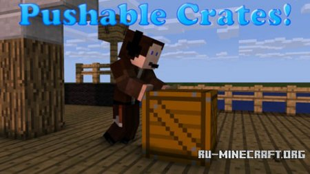 Скачать Pushable Crates для Minecraft 1.8