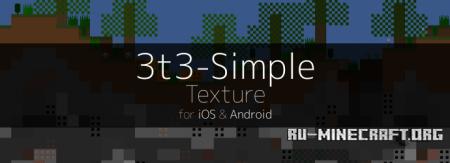 Скачать 3T3 [16x16] для Minecraft PE 0.13.1