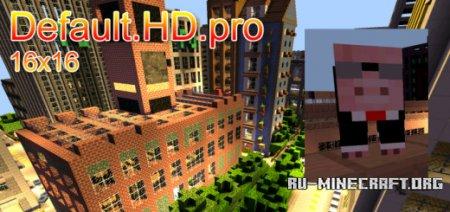 Скачать Default.HD.pro [16x16] для Minecraft PE 0.13.1