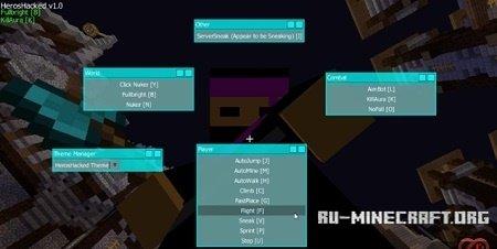 Скачать HerosHacked для Minecraft 1.8.9