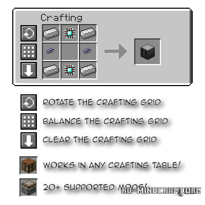 Скачать Crafting Tweaks для Minecraft 1.9