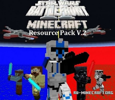 Скачать Star Wars Battlefront 2 [16x] для Minecraft 1.8.8