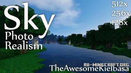 Скачать Sky Photo Realism [512x] для Minecraft 1.9.1