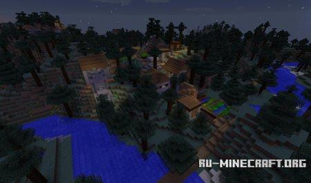 Деревня в Тайге Minecraft 1.10