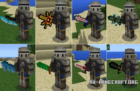 Скачать More Swords PE Music для Minecraft PE 0.14.0