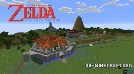 Скачать The Legend Zelda Ocarina Of Time II для Minecraft