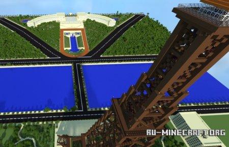 скачать карту для minecraft эйфелева башня #10